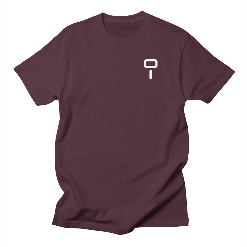 Numu Symbol (small) in Men's Regular T-Shirt Maroon by M. L. Wang Shop