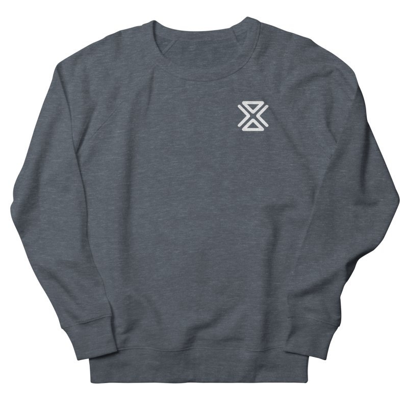 Fina Symbol (small) in Women's French Terry Sweatshirt Heather Navy Denim by M. L. Wang Shop