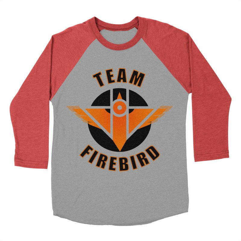 Team Firebird in Men's Baseball Triblend Longsleeve T-Shirt Chili Red Sleeves by M. L. Wang Shop