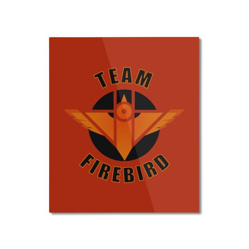 Team Firebird Home Mounted Aluminum Print by M. L. Wang Shop