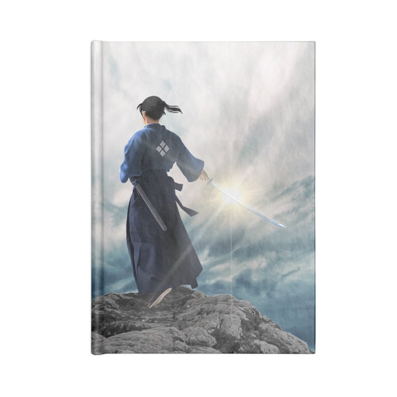 The Sword of Kaigen Cover Art Accessories Lined Journal Notebook by M. L. Wang Shop