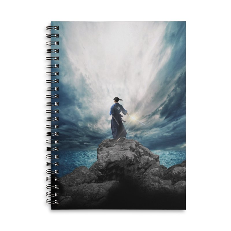 The Sword of Kaigen Cover Art in Lined Spiral Notebook by M. L. Wang Shop