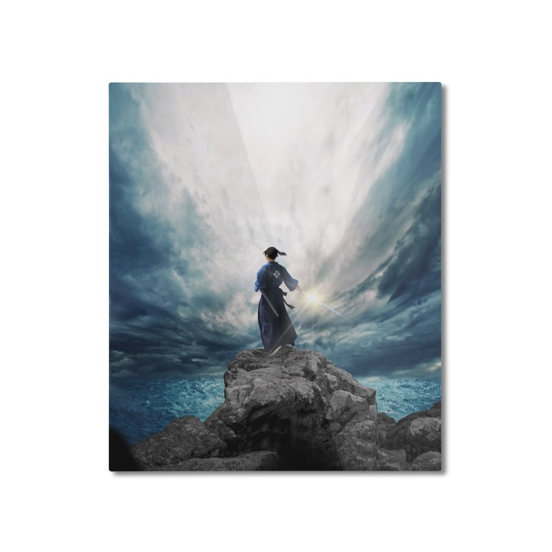 The Sword of Kaigen Cover Art Home Mounted Aluminum Print by M. L. Wang Shop