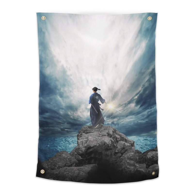 The Sword of Kaigen Cover Art Home Tapestry by M. L. Wang Shop