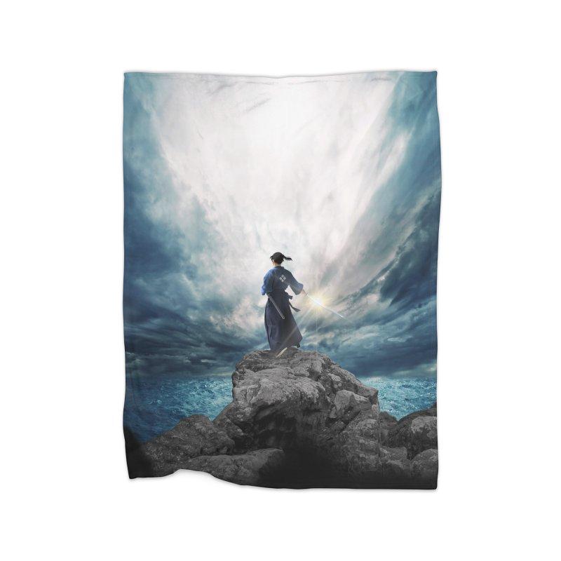 The Sword of Kaigen Cover Art Home Fleece Blanket Blanket by M. L. Wang Shop