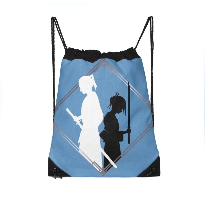 The Sword of Kaigen - Misaki & Takeru Graphic Accessories Drawstring Bag Bag by M. L. Wang Shop
