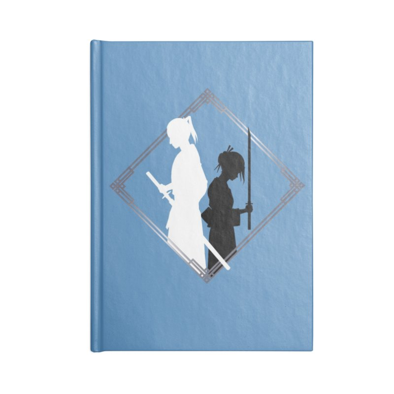 The Sword of Kaigen - Misaki & Takeru Graphic Accessories Lined Journal Notebook by M. L. Wang Shop