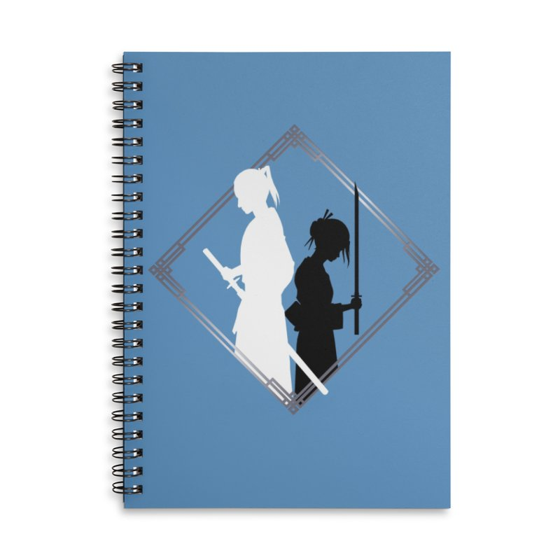 The Sword of Kaigen - Misaki & Takeru Graphic Accessories Lined Spiral Notebook by M. L. Wang Shop