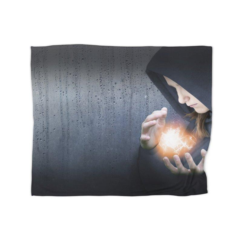 Theonite: Planet Adyn Cover Art Home Fleece Blanket Blanket by M. L. Wang Shop