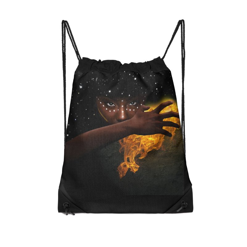 Theonite: Orbit Cover Art Accessories Drawstring Bag Bag by M. L. Wang Shop