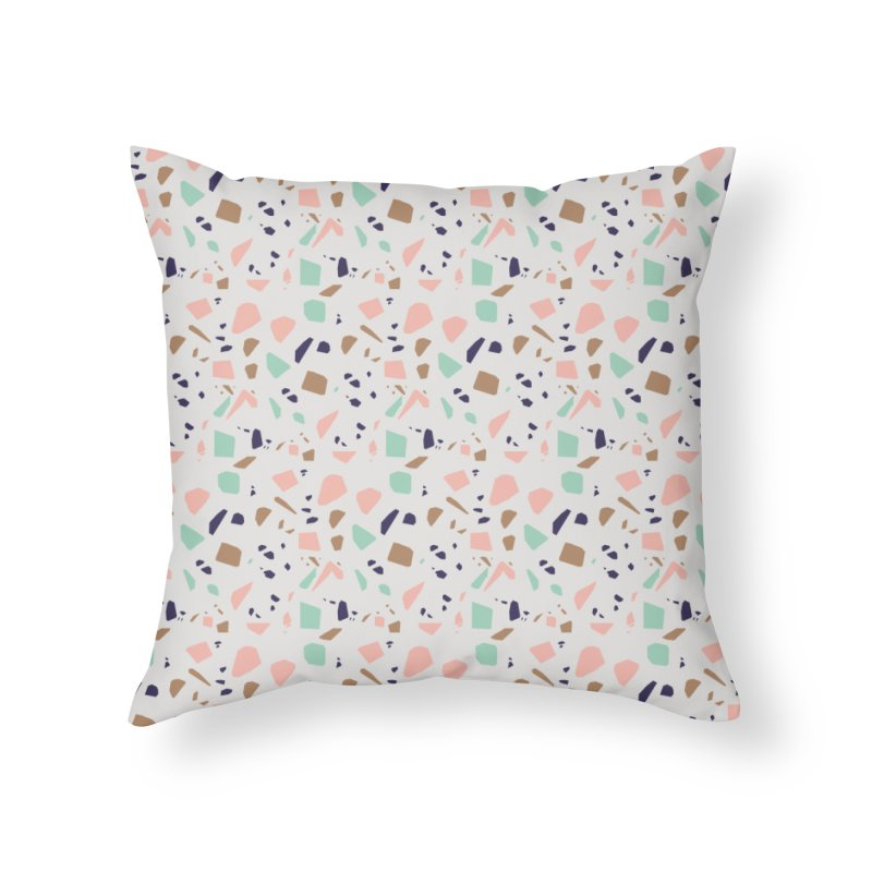 Terrazzo 01 Home Throw Pillow by mmartabc's Artist Shop