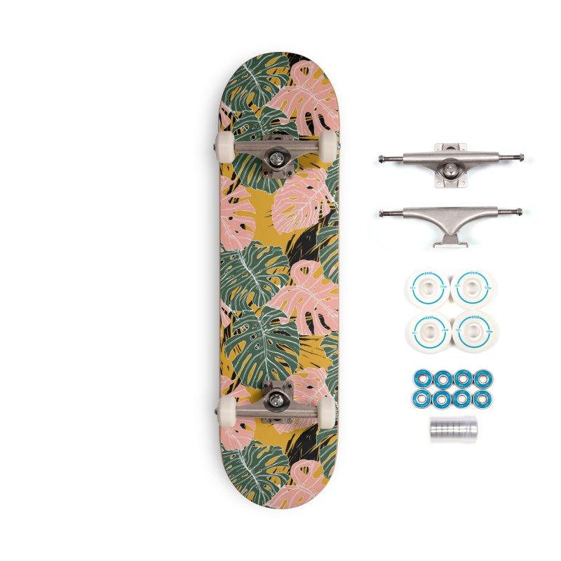Tropical Monstera Accessories Skateboard by mmartabc's Artist Shop