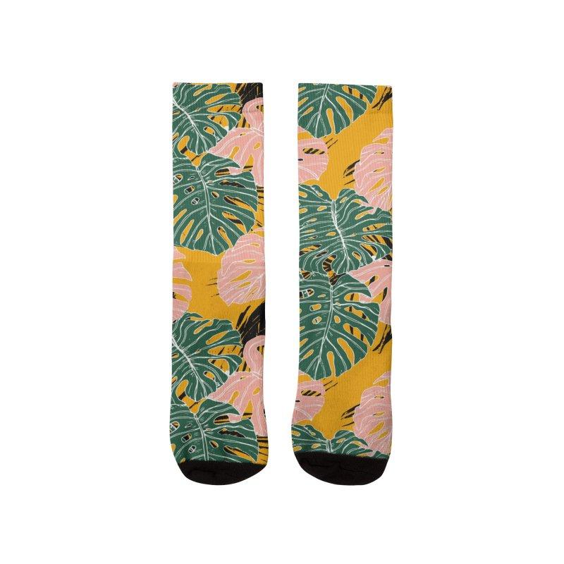 Tropical Monstera Women's Socks by mmartabc's Artist Shop