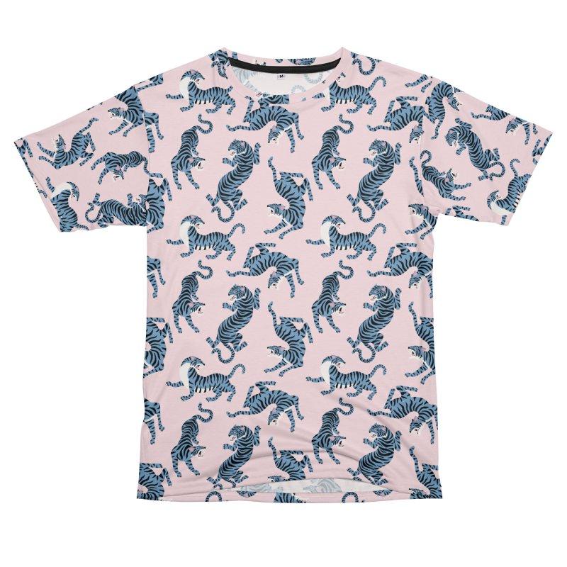 Pattern of blue tigers Men's Cut & Sew by mmartabc's Artist Shop