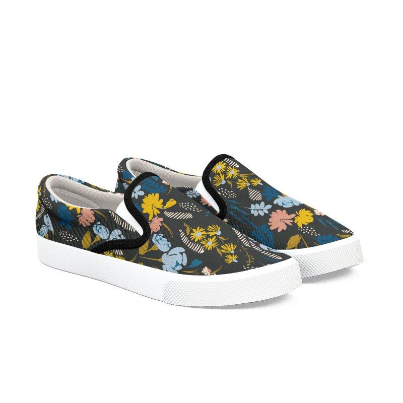 Simple flowering dark garden Women's Shoes by mmartabc's Artist Shop