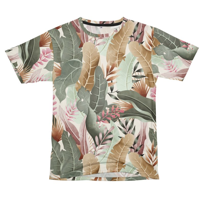 Wild jungle foliage Men's Cut & Sew by mmartabc's Artist Shop