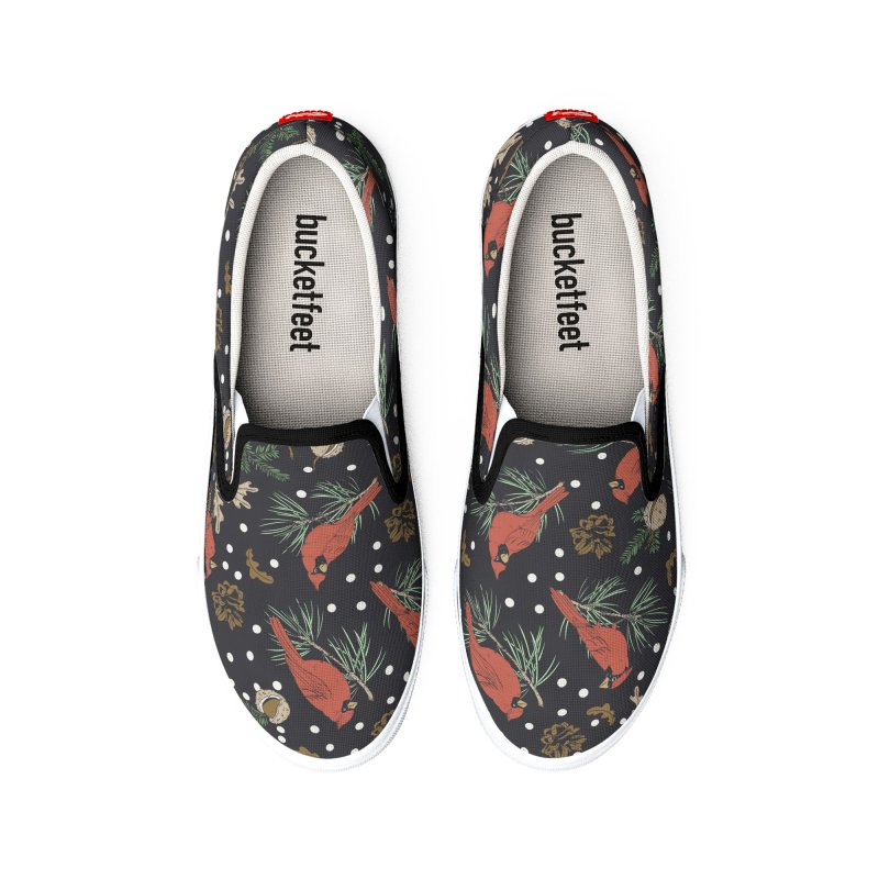 Christmas birds at night I Women's Shoes by mmartabc's Artist Shop