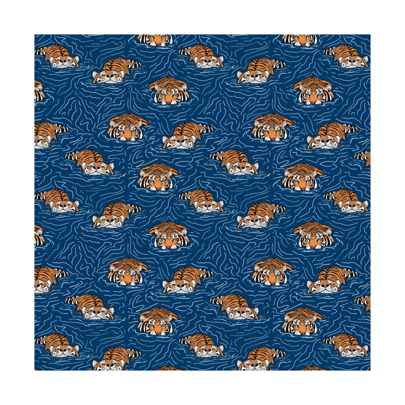 Tigers in the water I Home Rug by mmartabc's Artist Shop