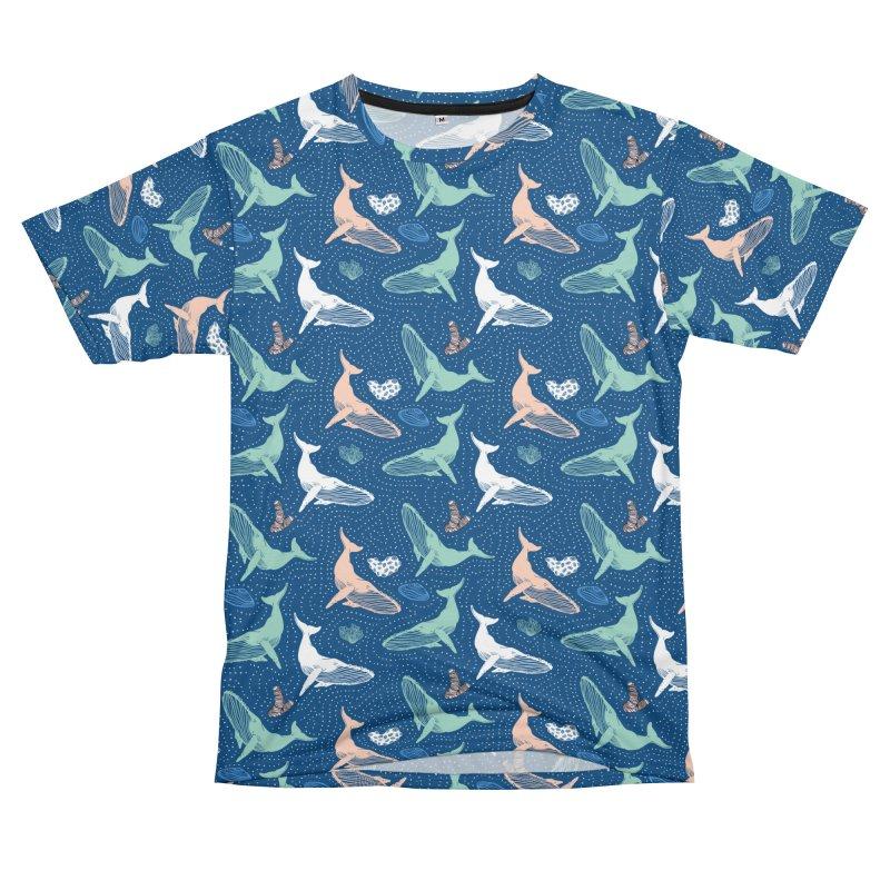 Whales in the dark II Men's Cut & Sew by mmartabc's Artist Shop