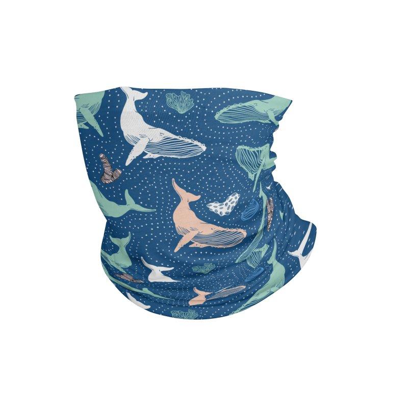 Whales in the dark II Accessories Neck Gaiter by mmartabc's Artist Shop