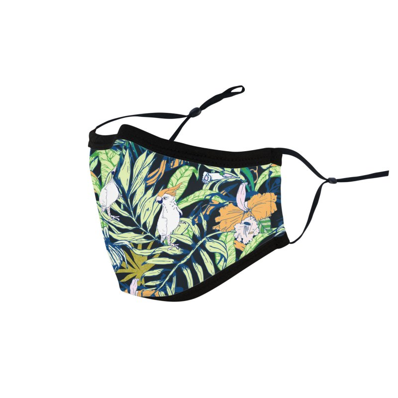 Tropical bird in the jungle Accessories Face Mask by mmartabc's Artist Shop