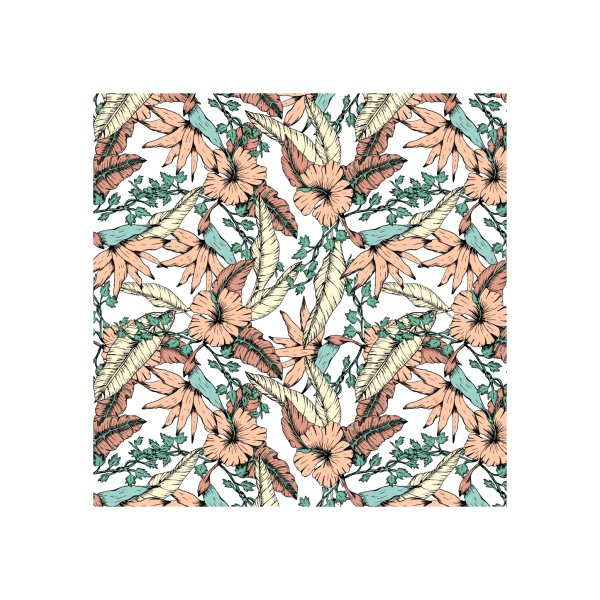 image for Floral tropic terracotta 01
