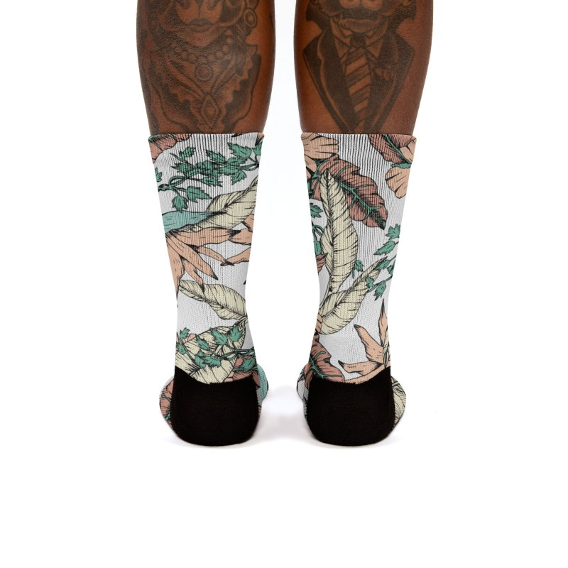 Floral tropic terracotta 01 Women's Socks by mmartabc's Artist Shop