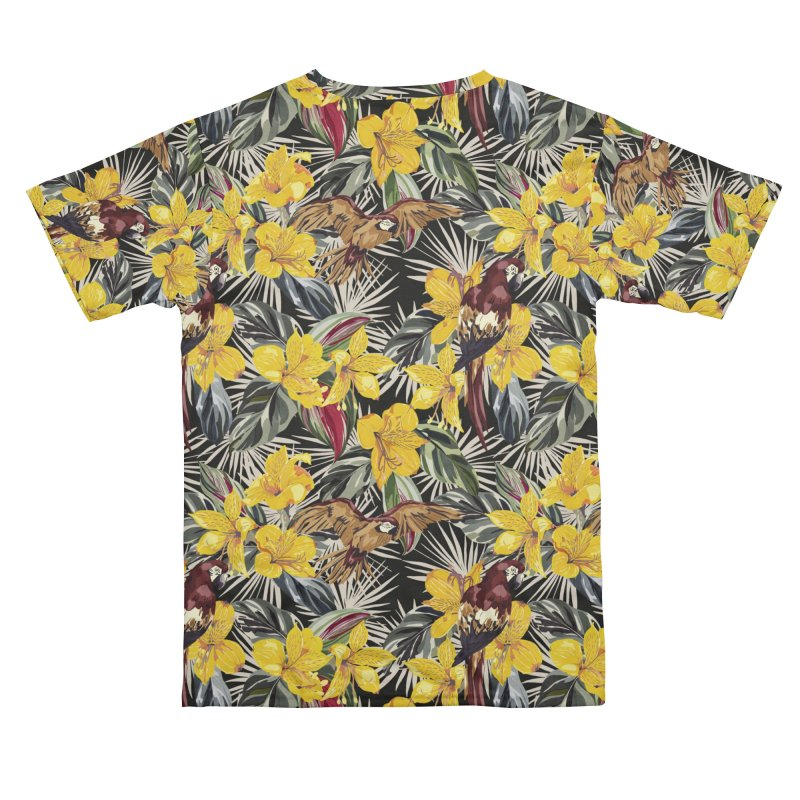 Birds in the tropical bloom 7 Men's Cut & Sew by mmartabc's Artist Shop