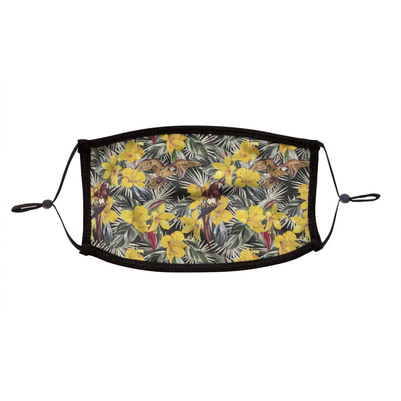Birds in the tropical bloom 7 Accessories Face Mask by mmartabc's Artist Shop