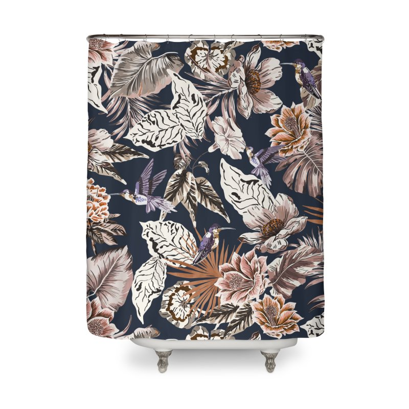 Hummingbirds in the florida jungle Home Shower Curtain by mmartabc's Artist Shop