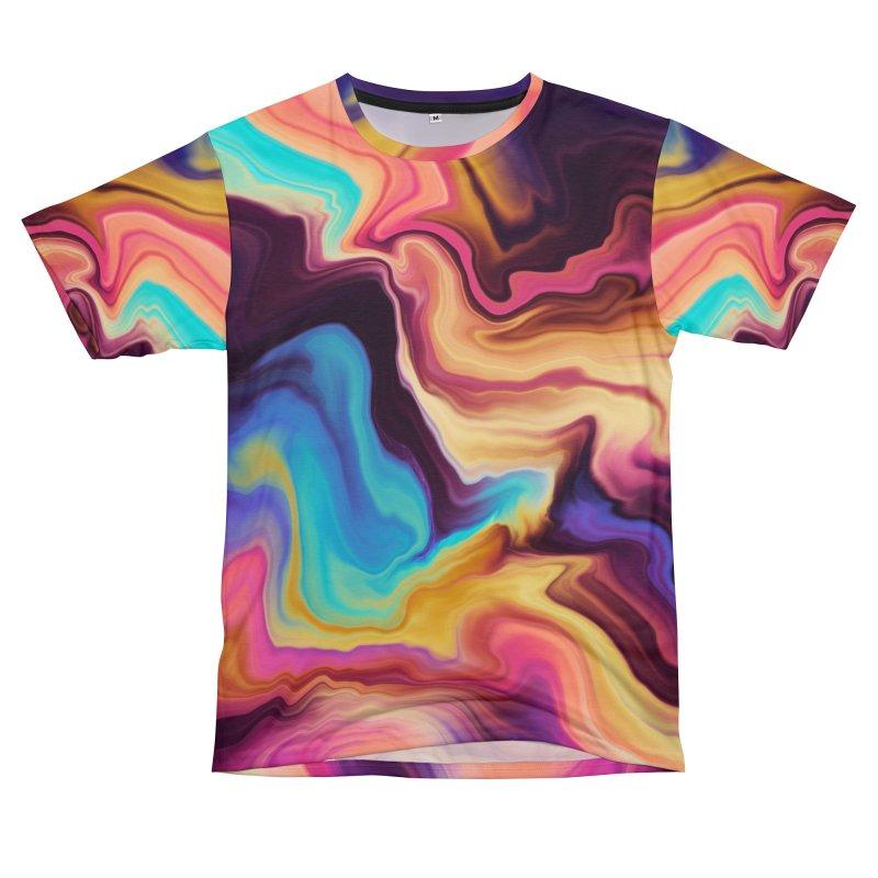 Bright wavy stripes 90 Men's Cut & Sew by mmartabc's Artist Shop