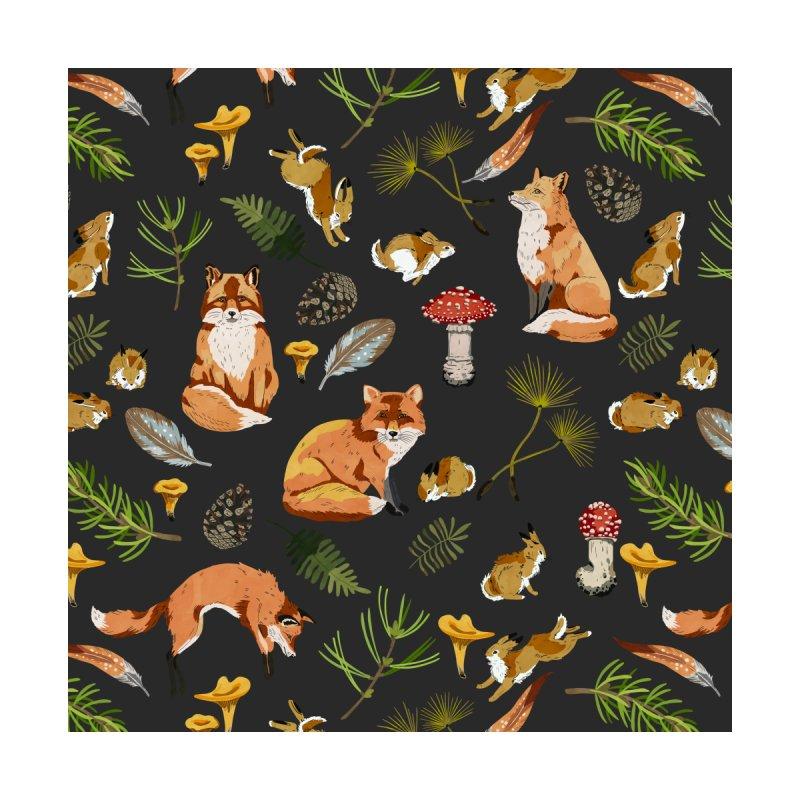 Foxes & rabbits autumn forest 2 Home Duvet by mmartabc's Artist Shop