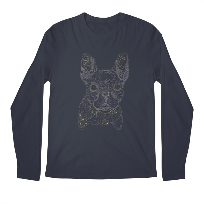 French Bulldog Men's Longsleeve T-Shirt by mmuffn's Artist Shop