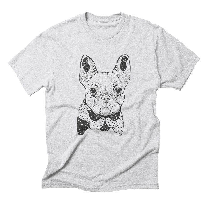 French Bulldog Men's Triblend T-Shirt by mmuffn's Artist Shop