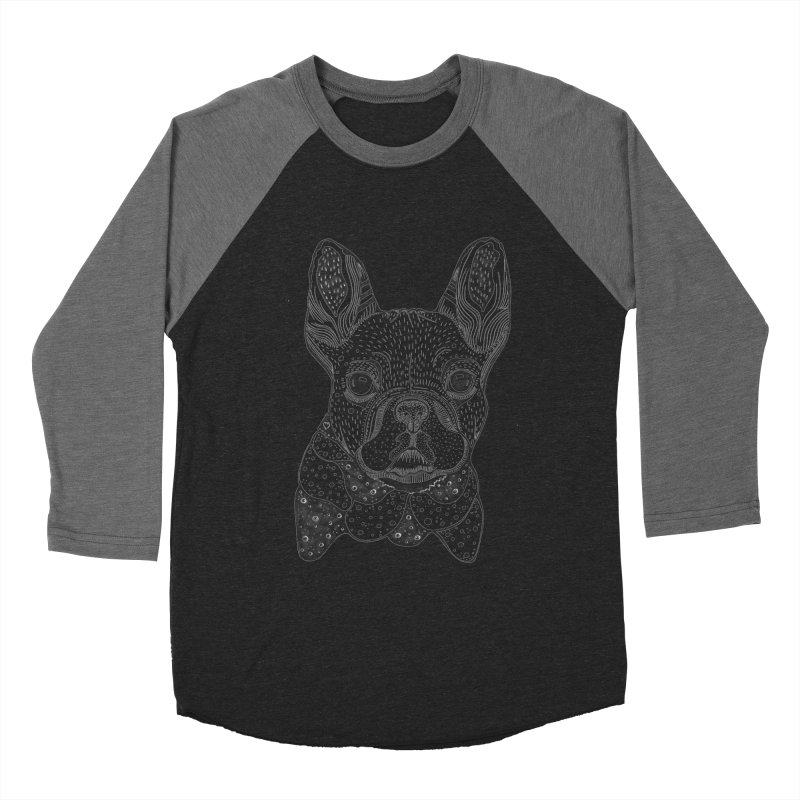 French Bulldog Women's Baseball Triblend T-Shirt by mmuffn's Artist Shop