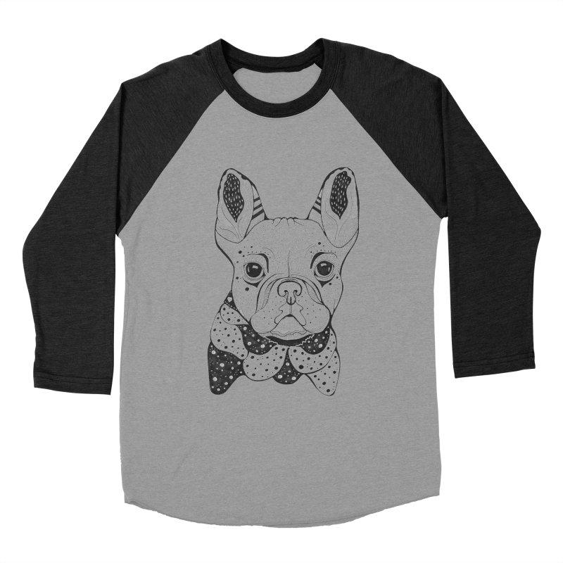 French Bulldog Men's Baseball Triblend T-Shirt by mmuffn's Artist Shop