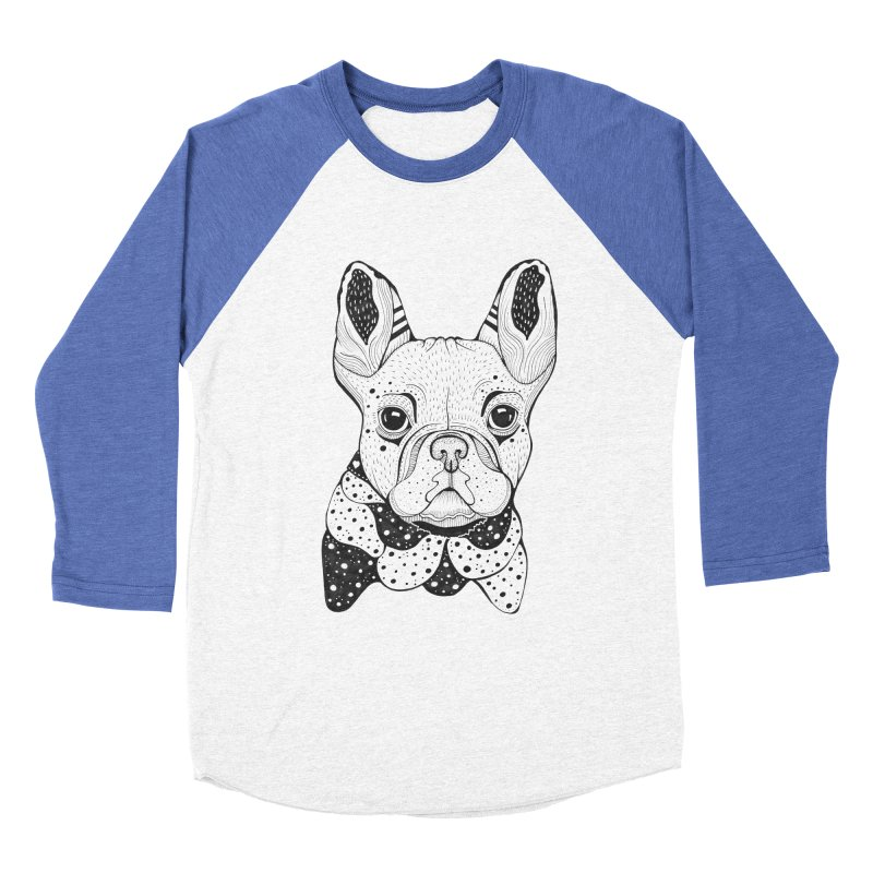 French Bulldog Men's Baseball Triblend T-Shirt by mmuffn's Artist Shop