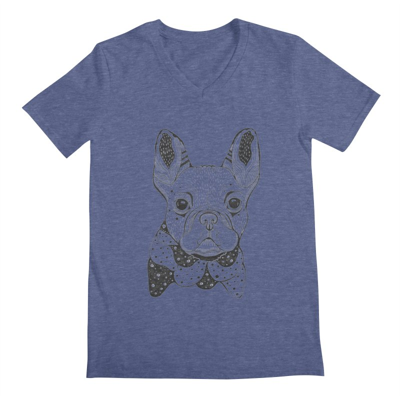 French Bulldog Men's V-Neck by mmuffn's Artist Shop