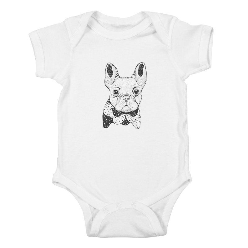 French Bulldog Kids Baby Bodysuit by mmuffn's Artist Shop