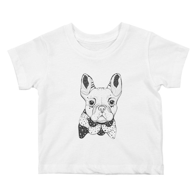 French Bulldog Kids Baby T-Shirt by mmuffn's Artist Shop