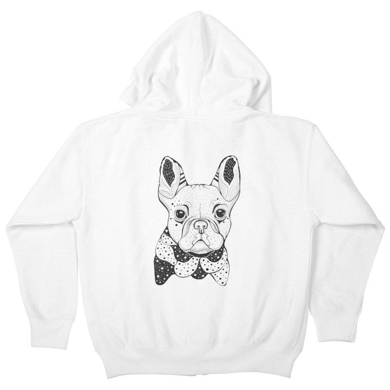 French Bulldog Kids Zip-Up Hoody by mmuffn's Artist Shop