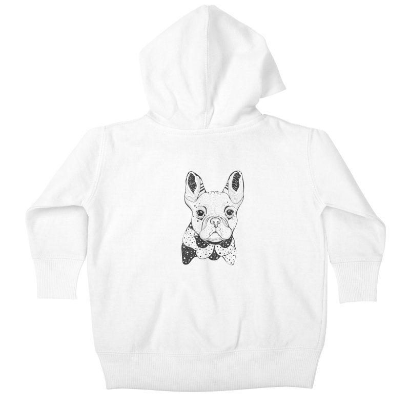 French Bulldog Kids Baby Zip-Up Hoody by mmuffn's Artist Shop