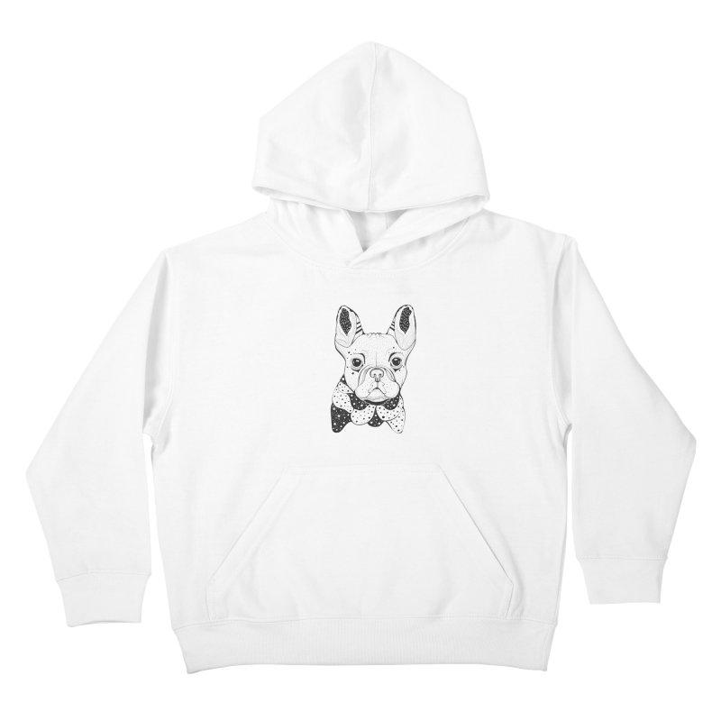 French Bulldog Kids Pullover Hoody by mmuffn's Artist Shop