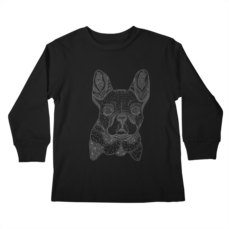 French Bulldog Kids Longsleeve T-Shirt by mmuffn's Artist Shop
