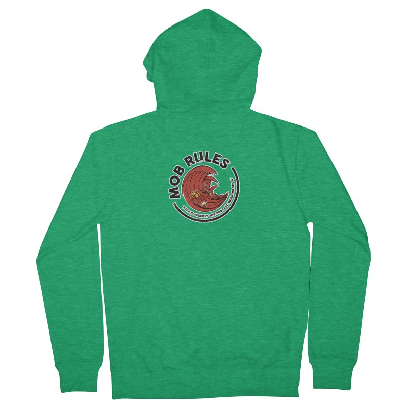 Mob Zerker Logo Men's Zip-Up Hoody by Mob Rules Podcast