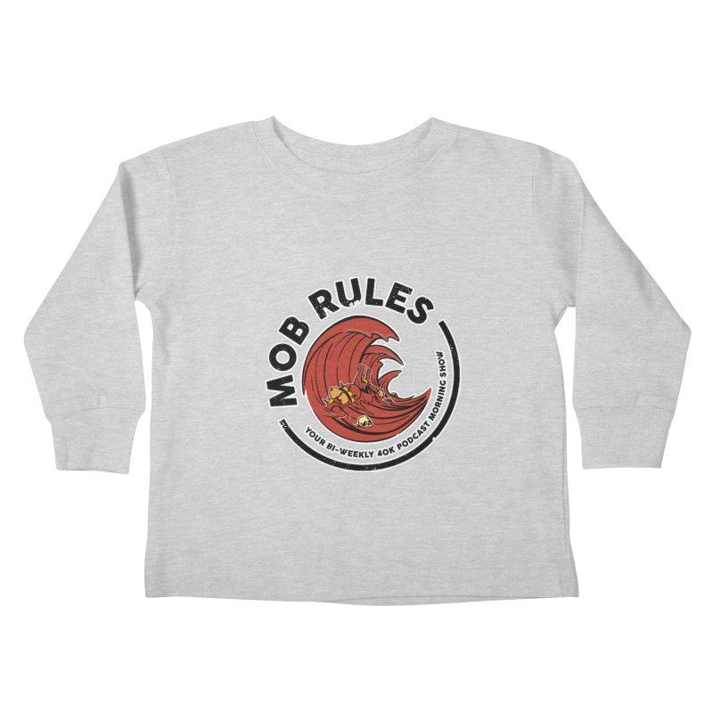 Mob Zerker Logo Kids Toddler Longsleeve T-Shirt by Mob Rules Podcast