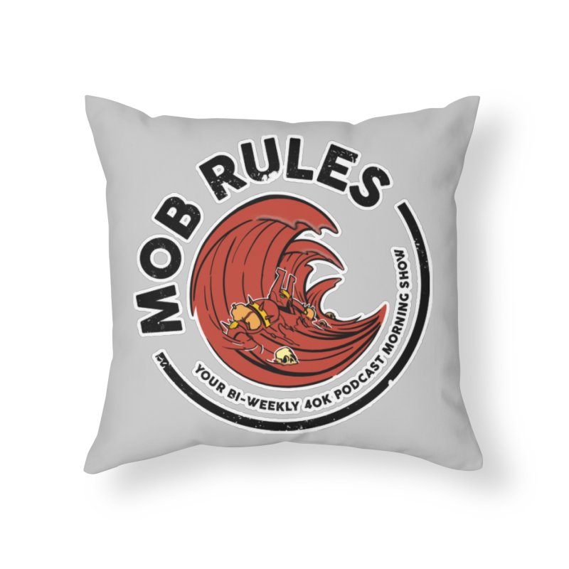 Mob Zerker Logo Home Throw Pillow by Mob Rules Podcast
