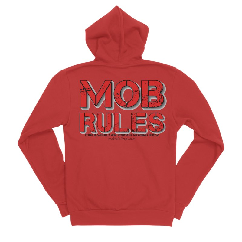 Mob Rules Logo Text Men's Sponge Fleece Zip-Up Hoody by Mob Rules Podcast
