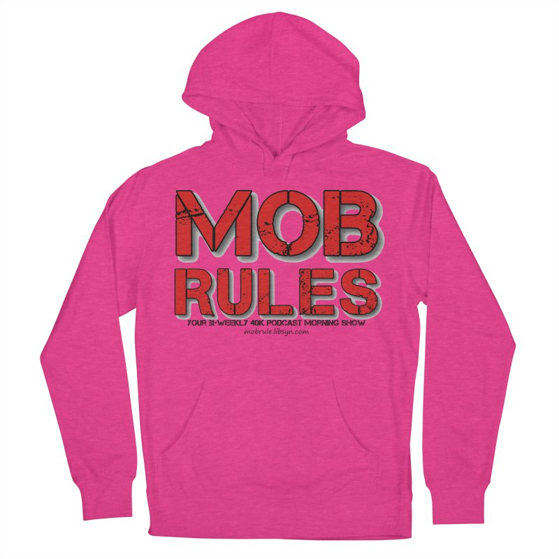 Mob Rules Logo Text Men's French Terry Pullover Hoody by Mob Rules Podcast