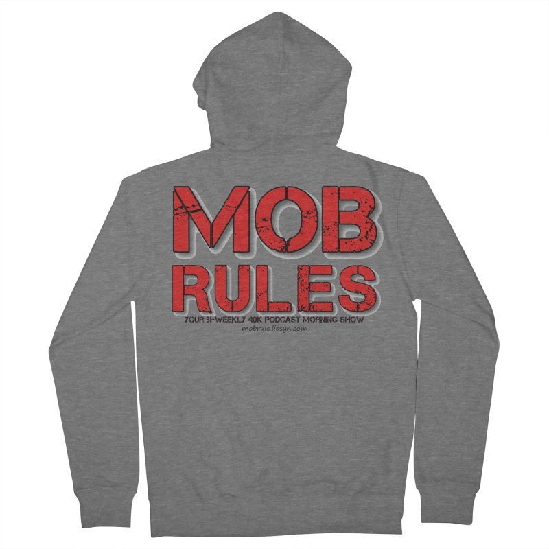 Mob Rules Logo Text Women's Zip-Up Hoody by Mob Rules Podcast
